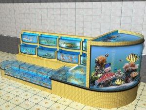 北京大红门孙氏水产品商行海鲜池工程